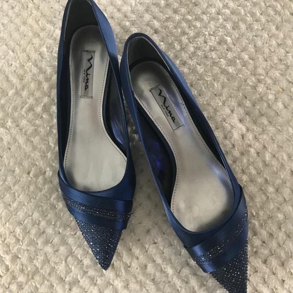 Nina Shoes | Navy Blue Evening Shoe